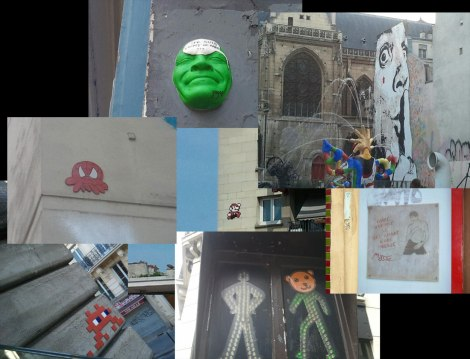 montage d'oeuvre de street art