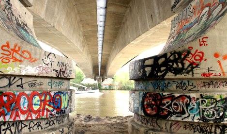 Le pont de l'A 14