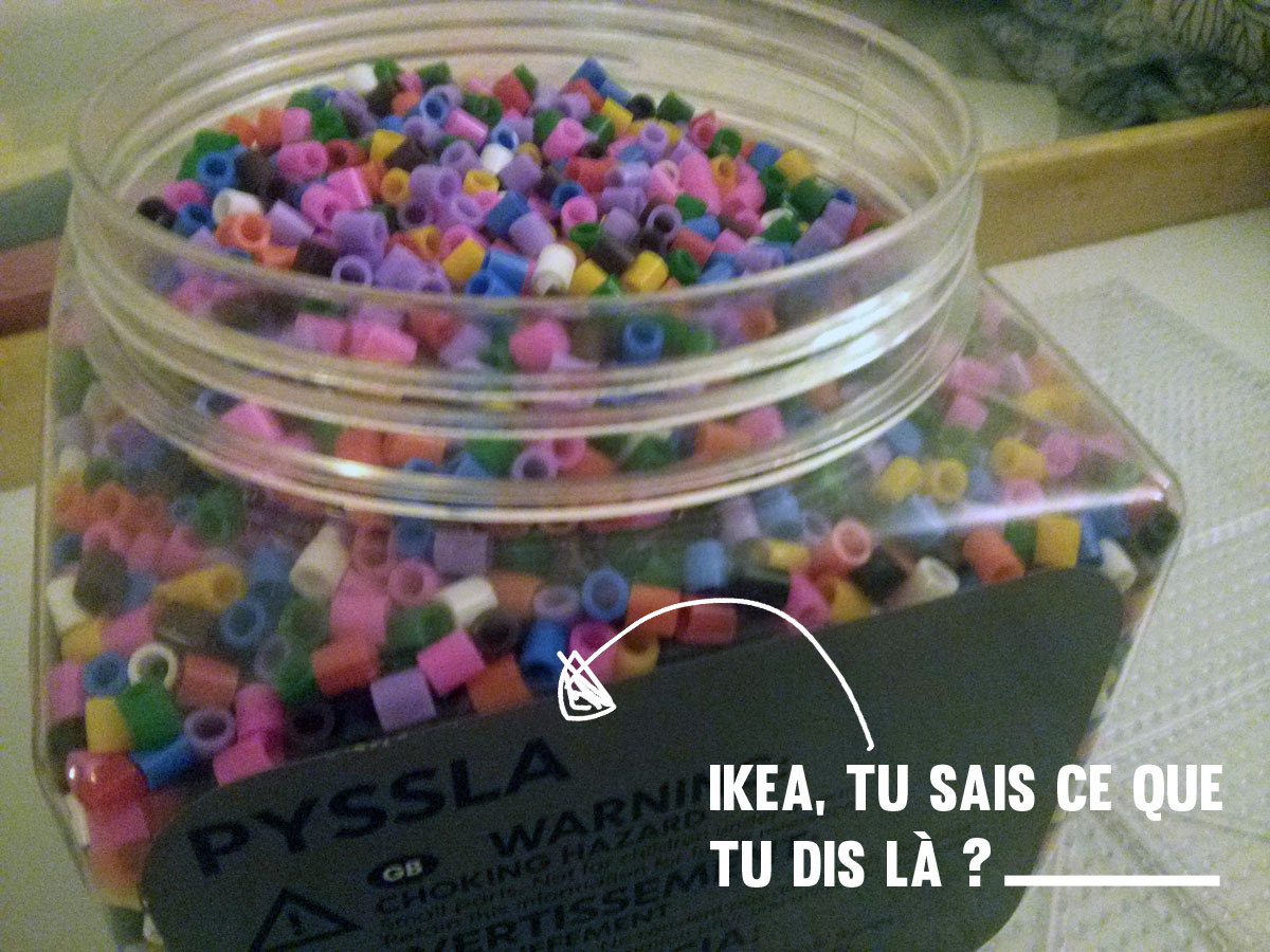 Pixel art les perles repasser pour les grands qu 39 est - Perle a repasser ikea ...